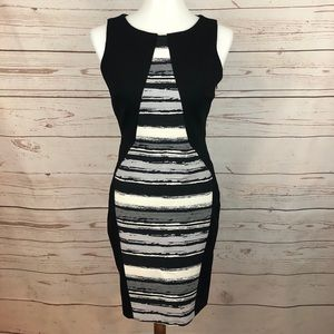 Eva Franco Colorblock Mod Sleeveless Sheath Dress